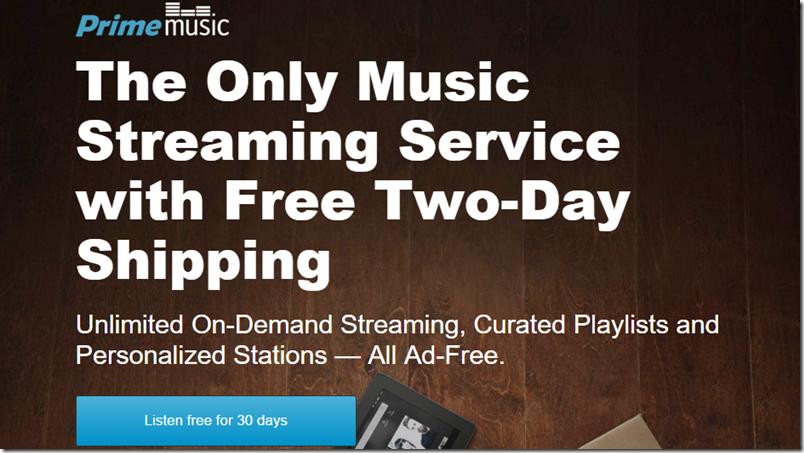 Prueba el Amazon Prime Music por 30 días gratis
